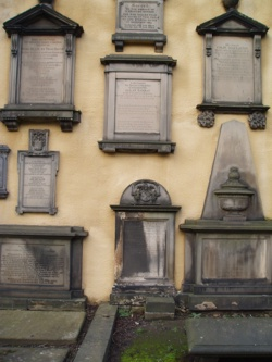 Greyfriars Kirk, Edinburgh Scotland. Interesting Wall memorials.